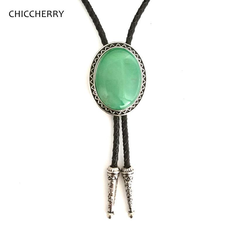 9ac8611a9b78 Green Agate Handmade Native American Indian Art Bolo Tie For Men Women  Necklace Jewelry Unisex Novelty Neckties Gravata Kravat Best Ties Floral  Ties From ...