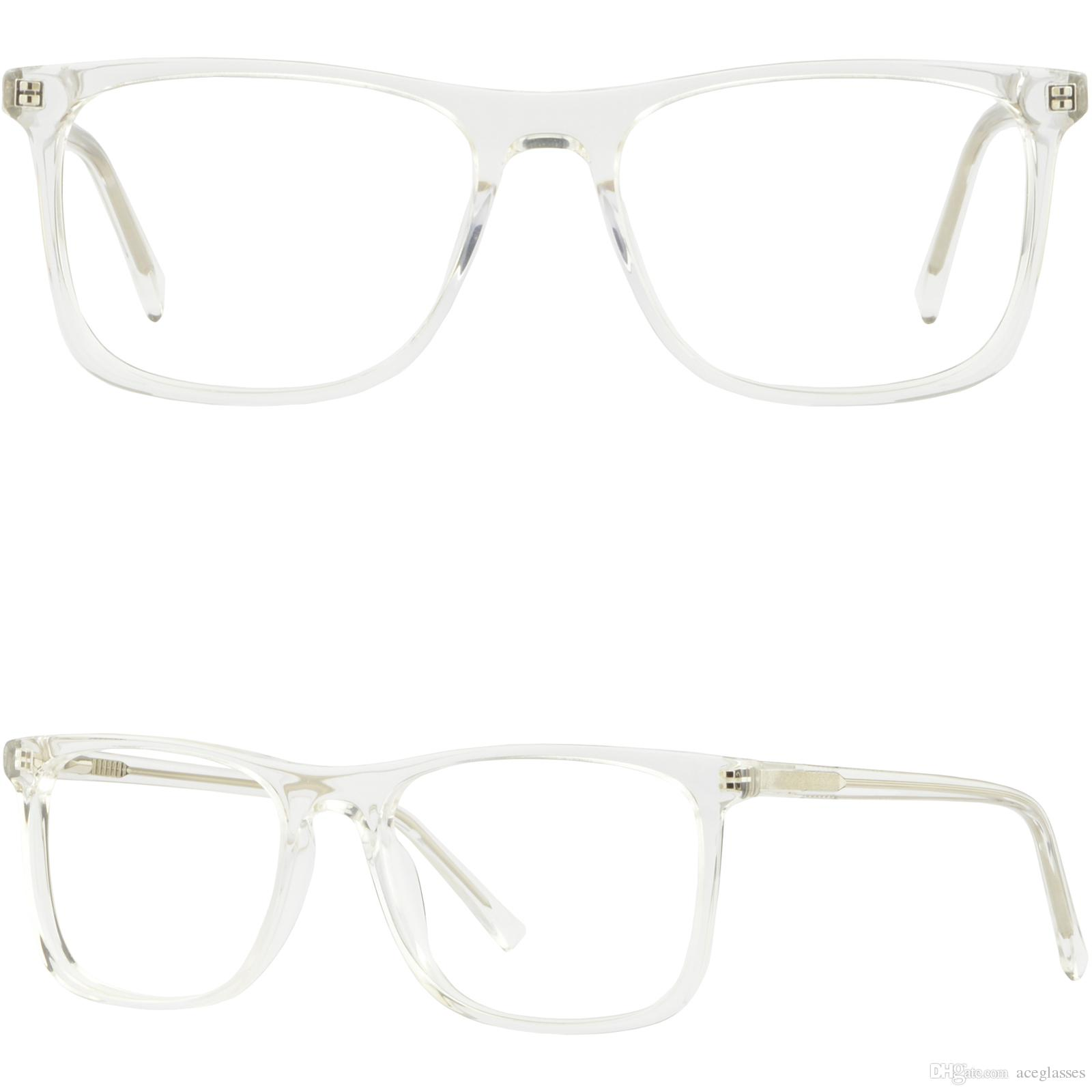 Clear Translucent Large Wide Plastic Mens Womens Frames Eyeglasses ...
