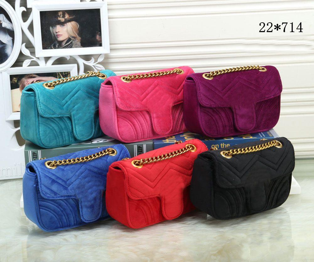 3b505f547dde22 22cm 443497 Marmont Small Chevron Velvet Shoulder Bag Women Luxury Chain  Crossbody Bag Handbags Famous Designer Purse Female Message Bags Wholesale  Handbags ...