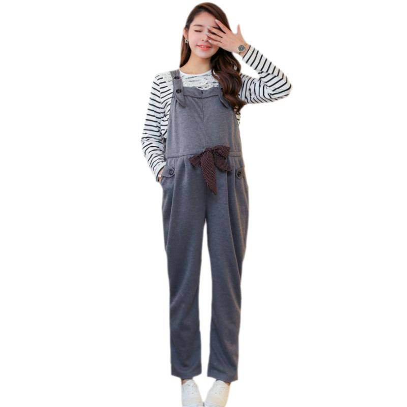 448a68781344a 2019 Maternity Pregnancy Jumpsuit Overalls Pants Loose Plus Size Trousers  Clothes For Pregnant Women Spring Autumn Bottoms Bib Pants From Xunqian, ...