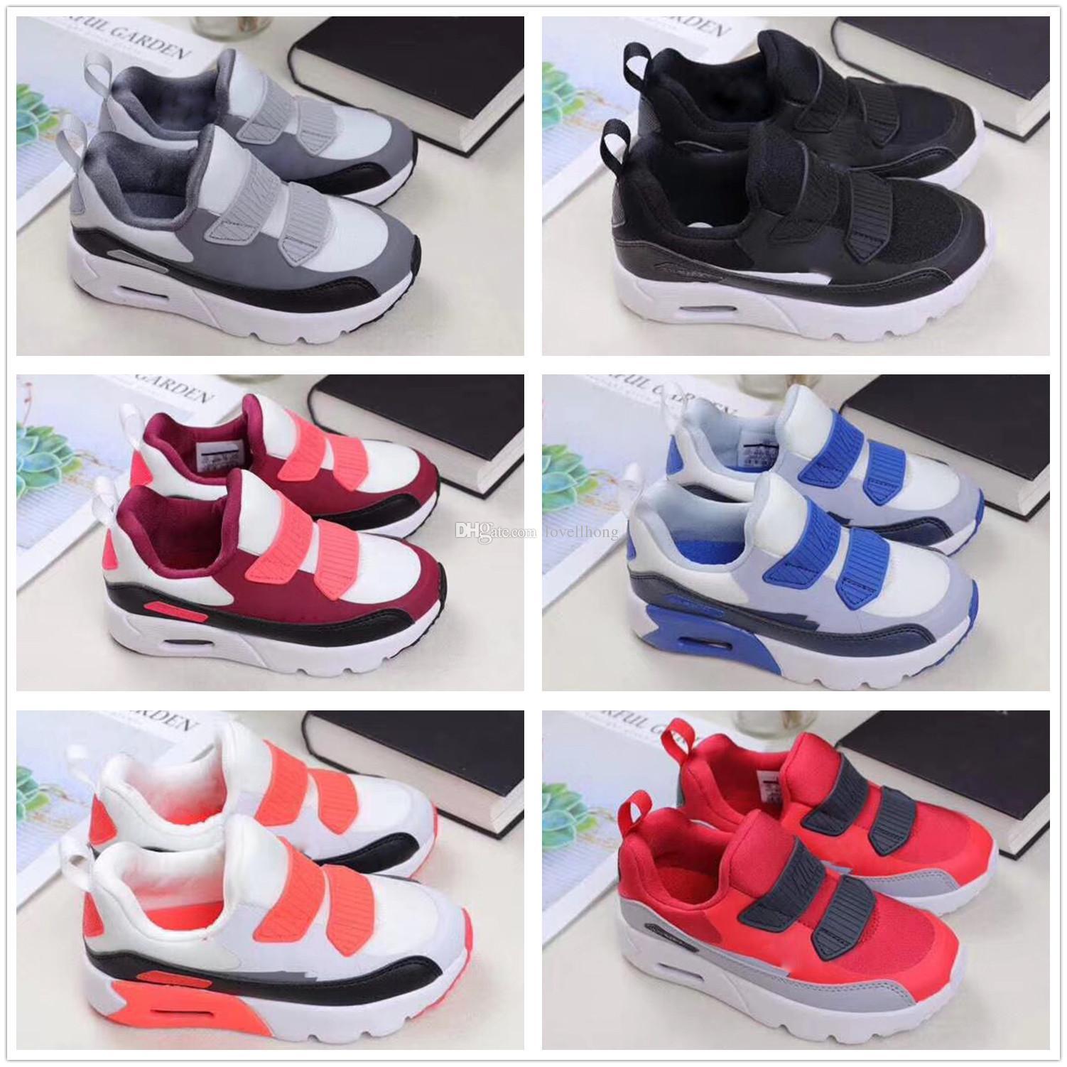 reputable site 9d4ed c2e81 Compre Nike Air Max 90 Airmax Diseñador De La Nueva Marca Para Niños Zapatos  Para Bebés Y Niños Pequeños Clásico 90 Niños 90 S Zapatilla Deportiva  Zapatos ...