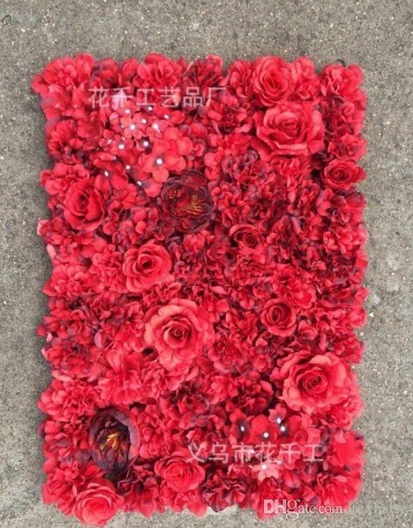 Accessoires de scène de mariage créatif Soie rose entrelacs mur cryptage floral fond fleurs artificielles
