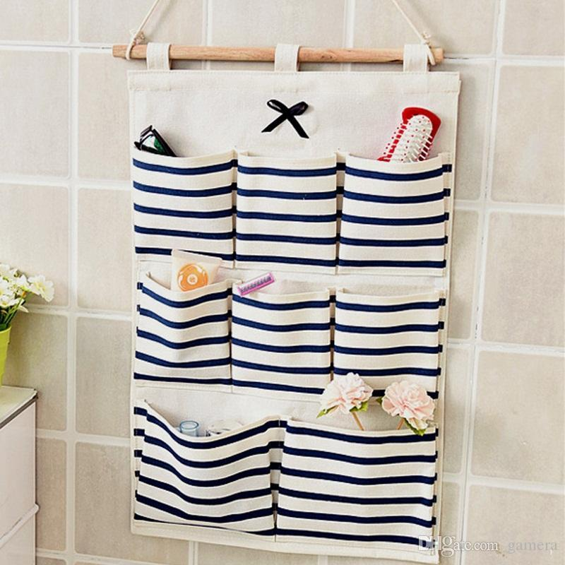 Best Wholesale Sundry Cotton Wall Hanging Organizer Bag Multi Layer