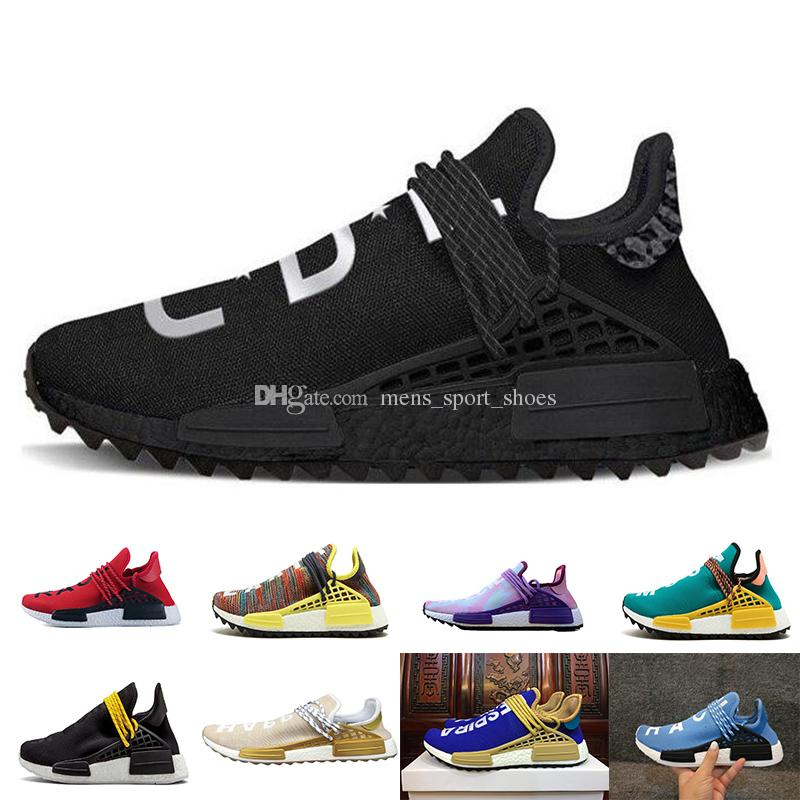 8b4735478 2019 2018 Human RACE Running Shoes Pharrell Williams NMD Trail Mens Women  Casual Trainers Sneakers From Mens sport shoes