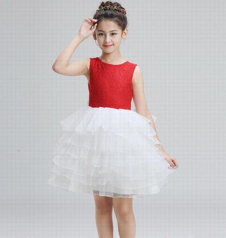 Charming Princess Pageant Short Flower Girl Dress Kids Party Special ...