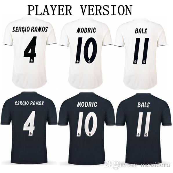 266d40f2e 2019 PLAYER VERSION REAL MADRID 2018 19 KROOS 8 MODRIC 10 BALE Thailand  Quality Soccer Jersey Football Shirt Kit Camiseta Futbol Maillot De Foot  From ...