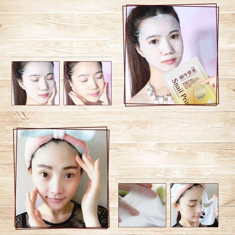 BIOAQUA Sheet Mask Snail Hydrating Essence Face Facial Mask Moisture Oil Control Remove Acne Shrink Pores Facial Cleaner