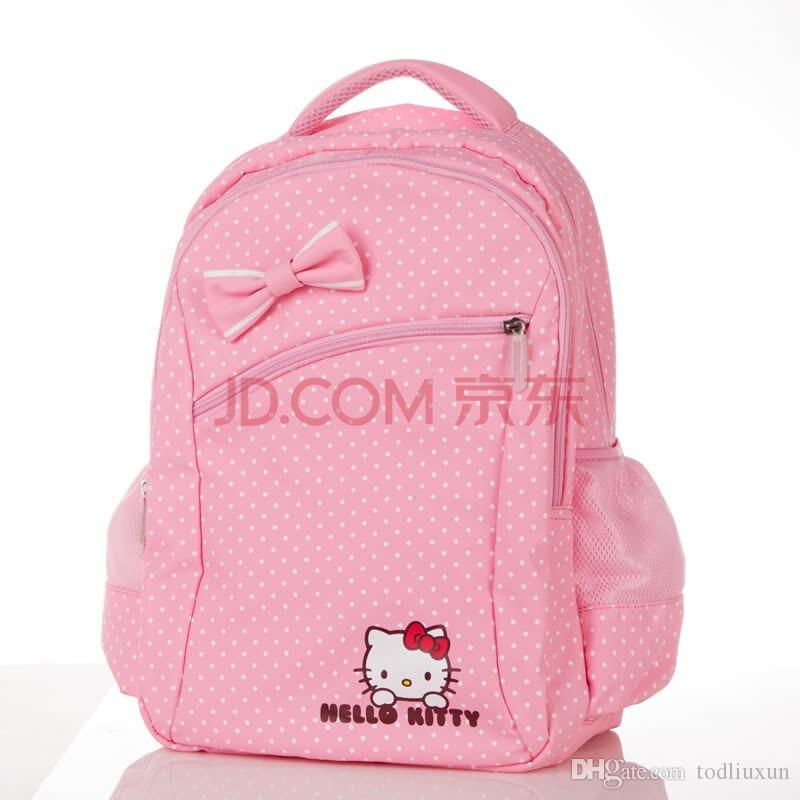 f0aa237ce 2018 2019 Multilayer New Super Hot Hello Kitty 3 6 Years Old Pink Cartoon  Sweet Girl Canvas Backpack Boys Backpacks On Sale Backpack Ladies From  Todliuxun, ...