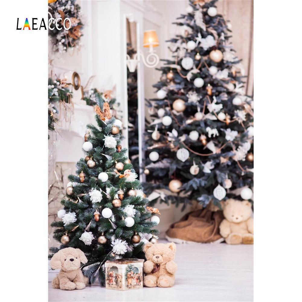 Großhandel Laeacco Zimmer Weihnachtsbaum Geschenk Dekor Bär ...
