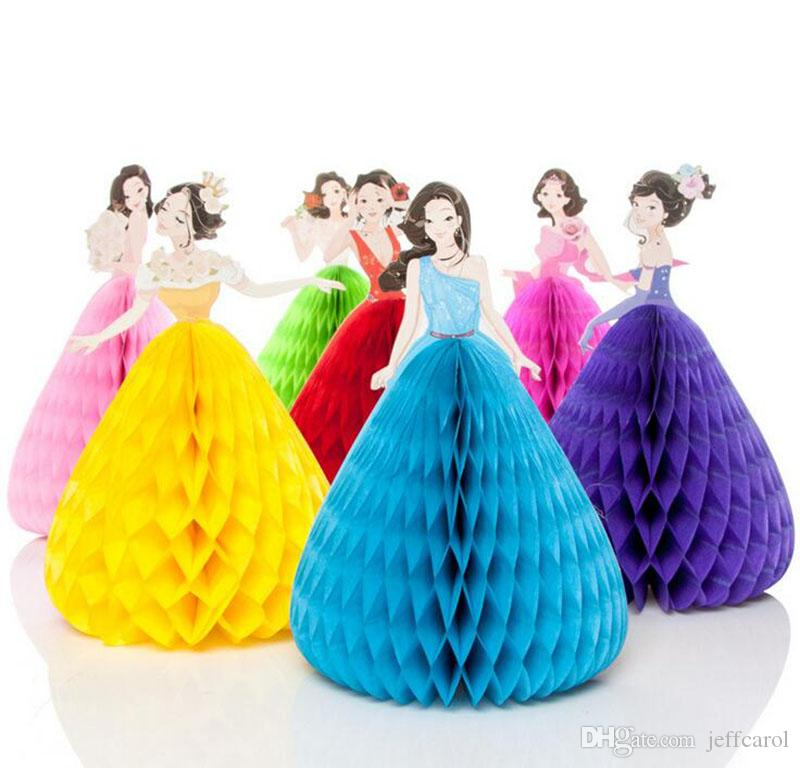 DIY Princess Invitation Cards 3D Pop Up Greeting Card Postcard Laser Cut Handmade Happy Birthday Presents