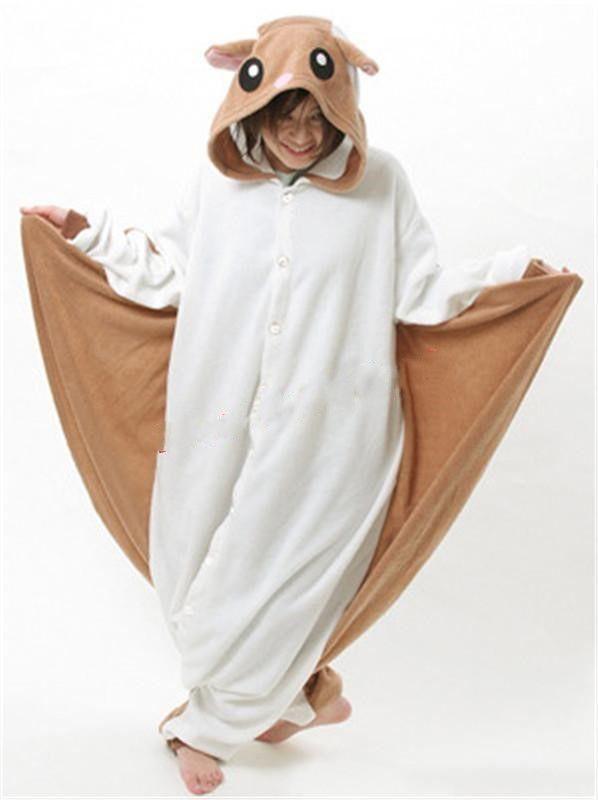 3821fa89fd4a 2019 Hot Flying Squirrel Adult Kigurumi Pajamas Animal Cosplay Costume  Onesie Sleepwear From Rablovebit