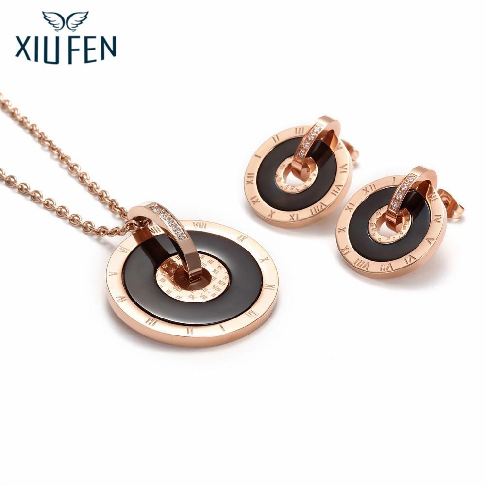 26a94048d Sangdo Fashion Titanium Necklace Simple Round Ring Pendant Elegant ...