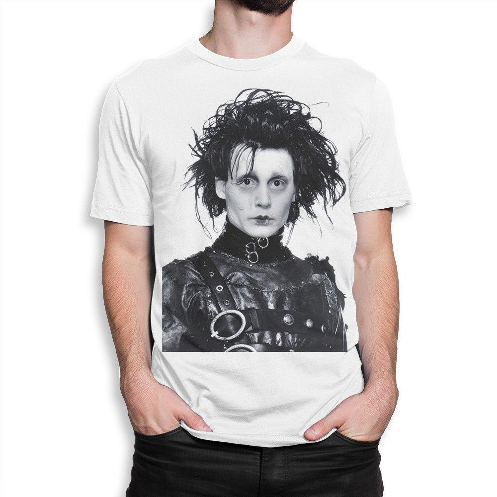 6ad7183cc Edward Scissorhands Art T Shirt, Johnny Depp Tee, Men'S Women'S All Sizes  Print T Shirt Fashion Short Sleeve Biker T Shirts Make Your Own T Shirts  From ...