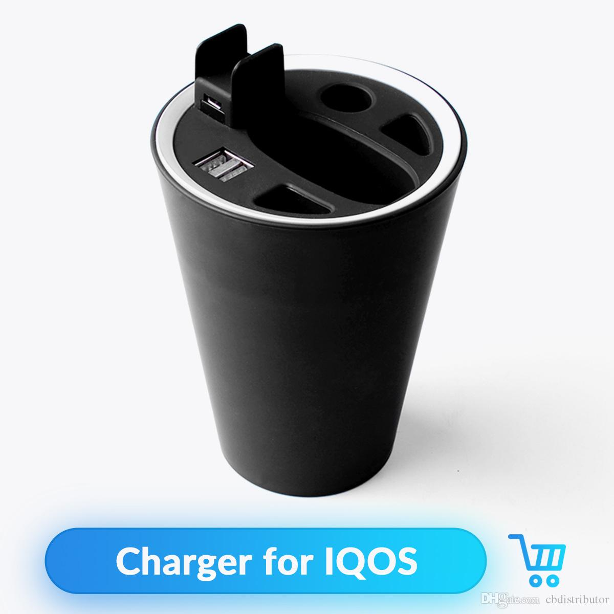 ABS Material Ashtray Design Multifunctional Charger Adapter for IQOS 2 4  IQOS 2 4 plus Universal Car Charger Vape Accessories
