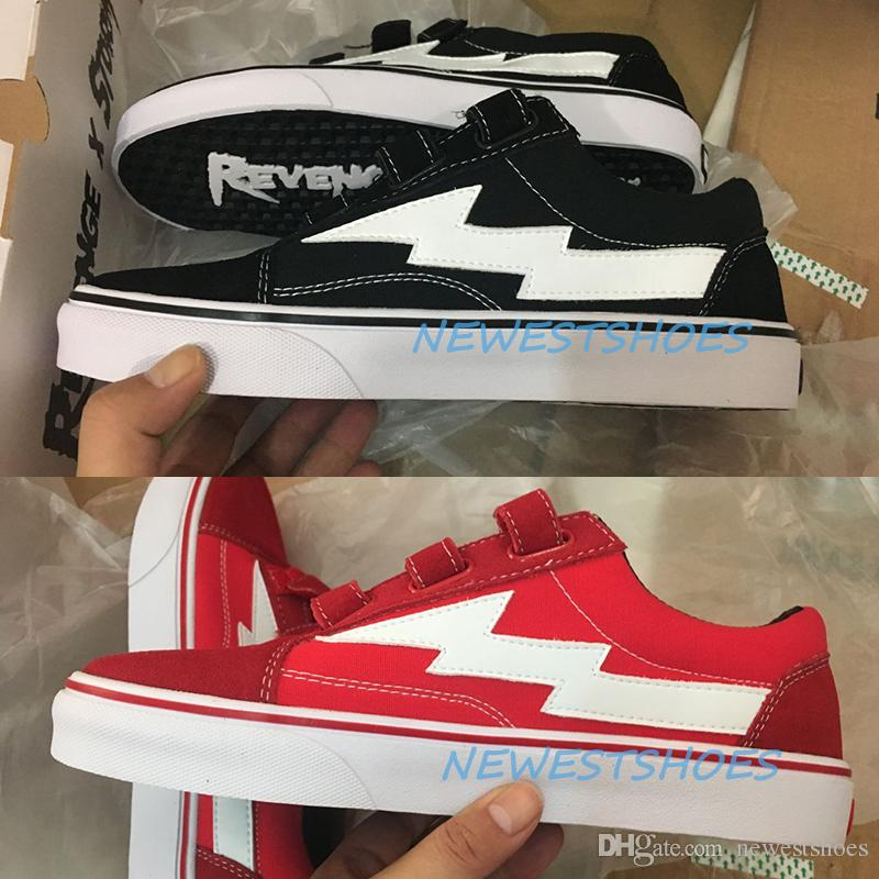 Real Pictures Revenge X Storm Era Hook Straps Ian Connor Black White Red  Mens Womens Skate Shoes Kendall Jenner Casual Sneakers Size 35 44 UK 2019  From ... 24557d2711