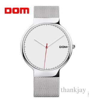 e85ae617cbc Compre Brw DOM Mulheres Relógios De Luxo Da Marca De Moda Senhora De  Quartzo Pulseira De Aço Inoxidável Relógio De Pulso Casual Malha Montre  Mujer Feminino ...