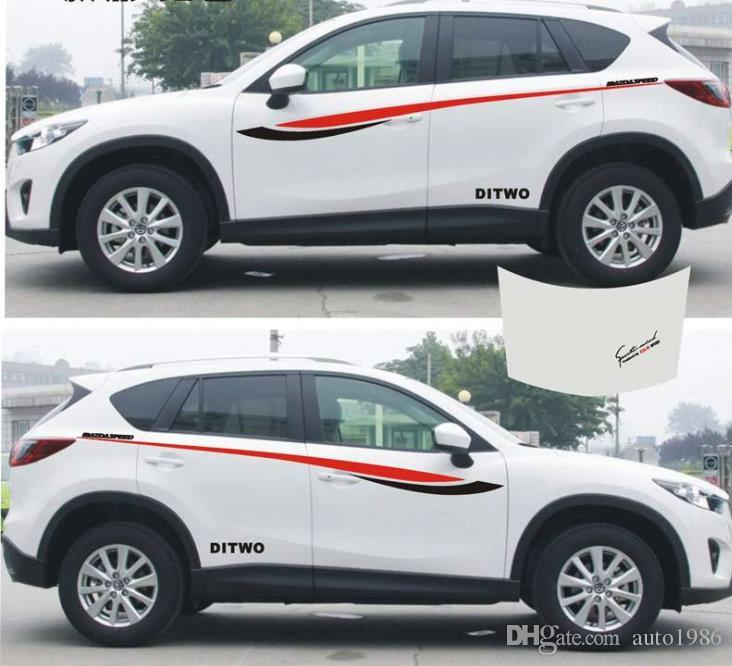 SUV Car Truck auto sport power waist Graphics Side Decal Body Hood Stickers for CX-5