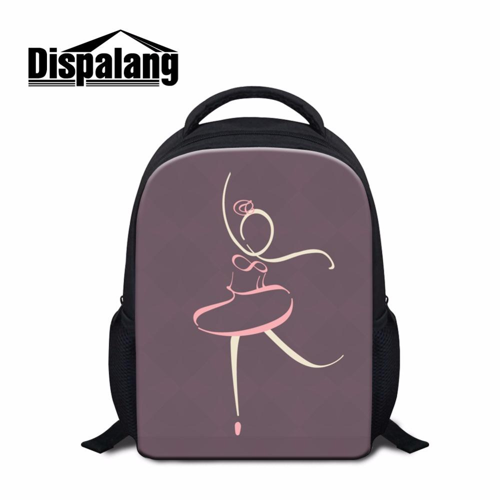 b108cc874f8c Dispalang Unique Design Ballerina Dancing Ballet Small School Bags For Girls  12 Inch Children Backpack Toe Shoe Print Bookbag Leather Backpack Laptop ...