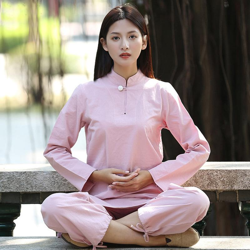 Acheter Femmes Yoga Costume Lâche Pantalon Tops Ensemble Femme Kung Fu Tai  Chi Vêtements Dames Linge En Plein Air Yoga Vêtements Zen Méditation  Vêtements De ... 7085e1a3acc