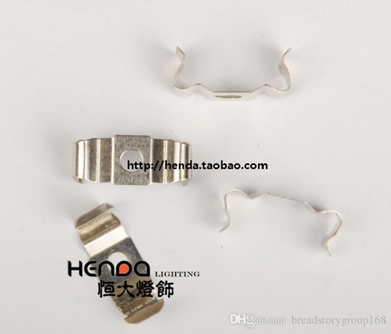Clip Soporte para tubo fluorescente fija de la lámpara Clip para las luces LED T4 T5 T8 soporte de fijación de la hebilla