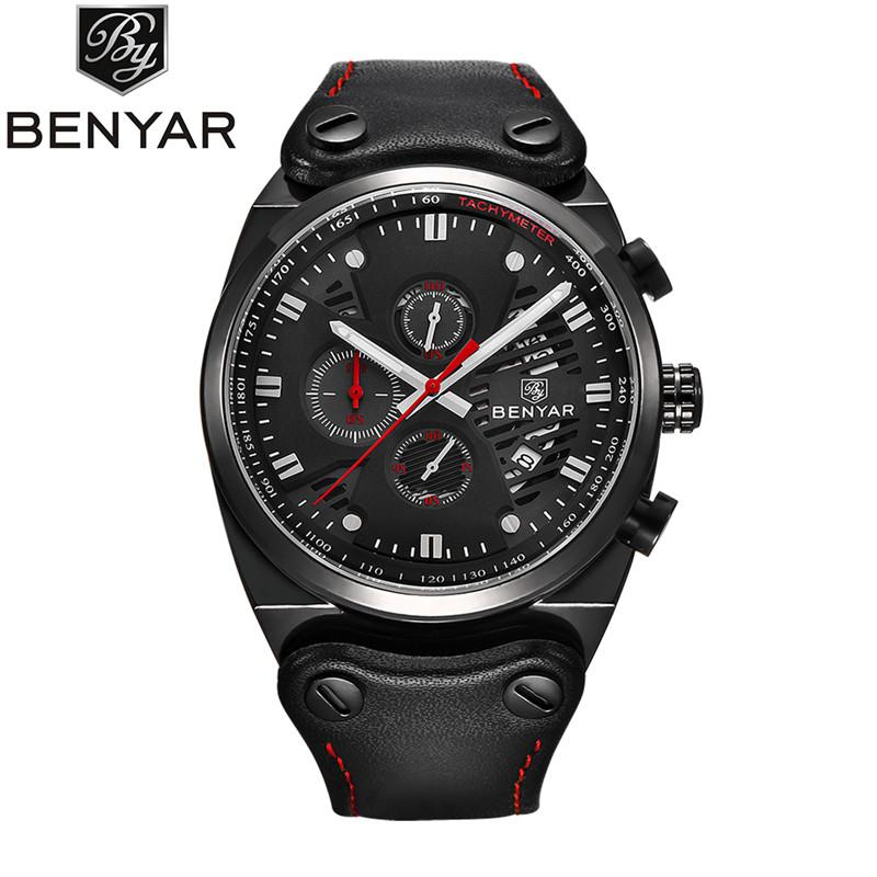 df880bdd69b BENYAR 2018 New Skeleton Calendar Men S Watches Chronograph Real Three Dial  Waterproof 30M Outdoor Hollow Sports Watch Sport Watches Online Shopping  Clothes ...
