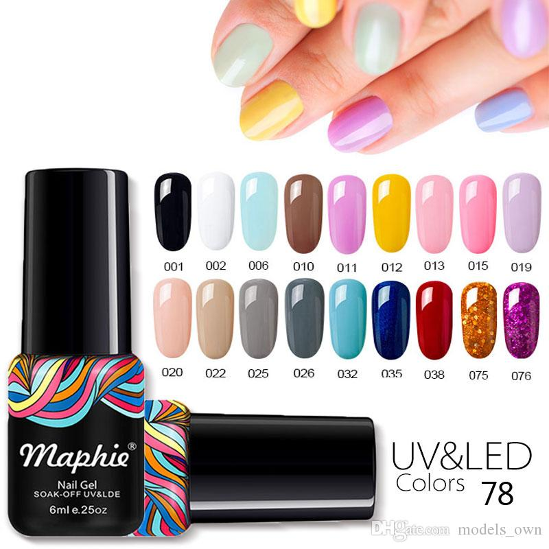 Maphie Full Set Glitter Decorations Nude Color Soak Off Led Uv Nail ...