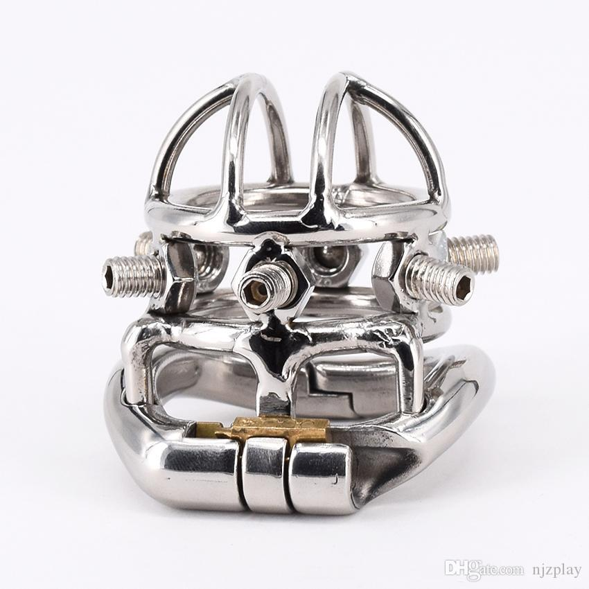 !!!Adult male chastity device cock cage penis lock cage penis cage with 6 Screws