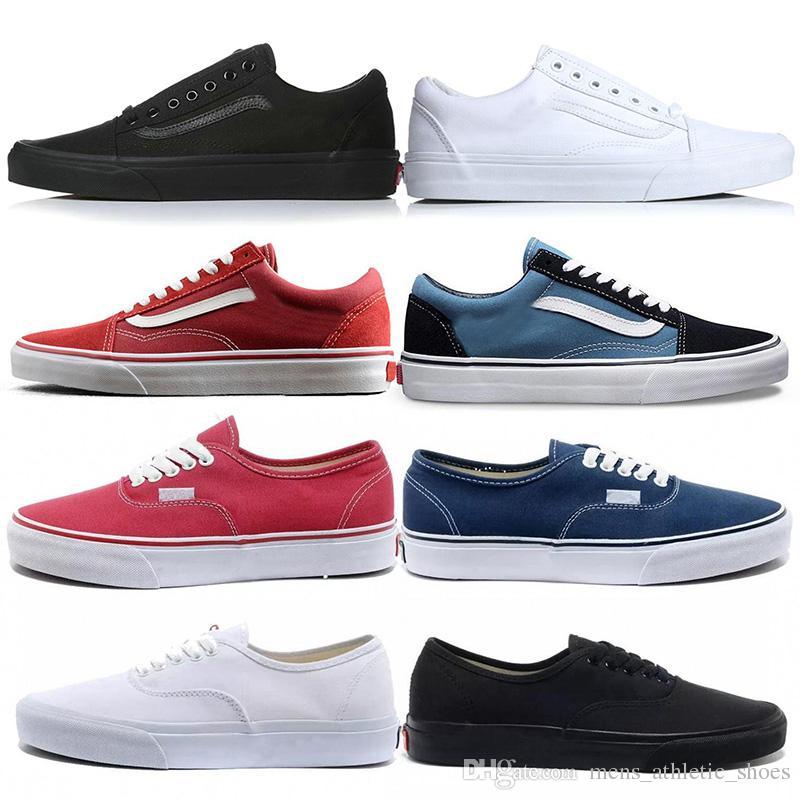 Compre Vans Off The Wall Old Skool Fuera De La Pared Miedo A Dios Old Skool  Auténticos Zapatos De Skate De Lona Blanco Diseñador Hombres Mujeres  Zapatillas ... ece7b857094
