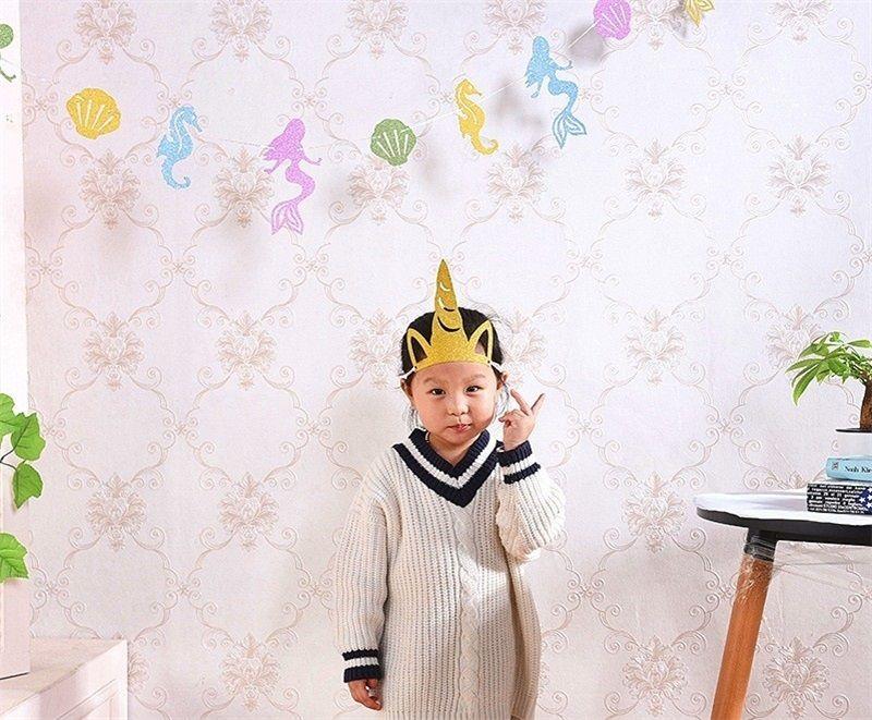 Fashion Unicorn Cap Children Birthday Hat Multi Color Creative Gold Powder Headgear Party Decor Baby Shower Supplies 1 38dy C R