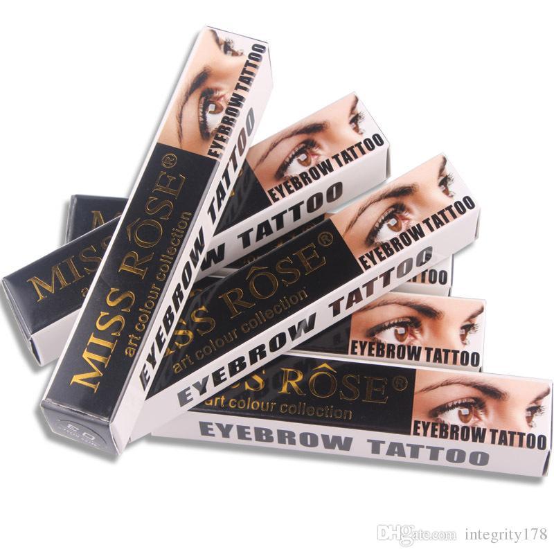 / MISS ROSE einfach zu tragen Flüssigkeit Tattoo Augenbraue Tönung Gel langlebige wasserdichte Pigmente Henna Eyebrows Augenbraue Gel Make-up