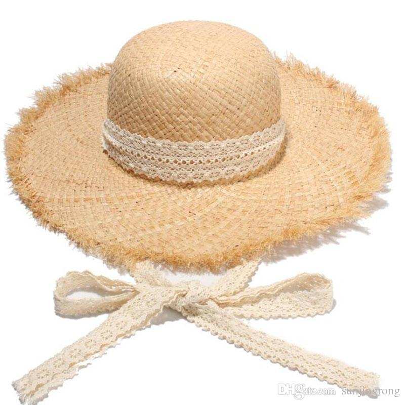 e1f2fdc0326 Summer Women Fashion Large Brim Straw Hat Dome Brim Sun Cap Women Vintage  Beach Foldable Straw Caps Large Floppy Hats Wide Brim Hats Outdoor  Sunscreen Hats ...