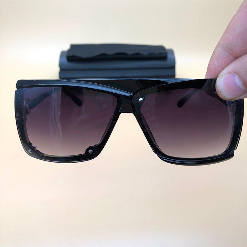 71d5e6ca74 Compre Vintage Cat Eye Gafas De Sol Grandes Lentes Brillantes Gafas De  Montura Negra Legends Para Mujer Gafas De Sol Retro Frame Gafas De Sol Con  Caja 4065 ...