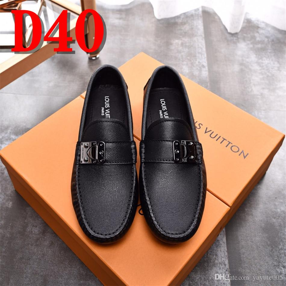 17b7c8d1839 2018 Men Shoes Luxury Brand Leather Casual Driving Oxfords Shoes Men Loafers  Moccasins Italian Shoes For Men Flats Womens Loafers Mens Leather Boots  From ...