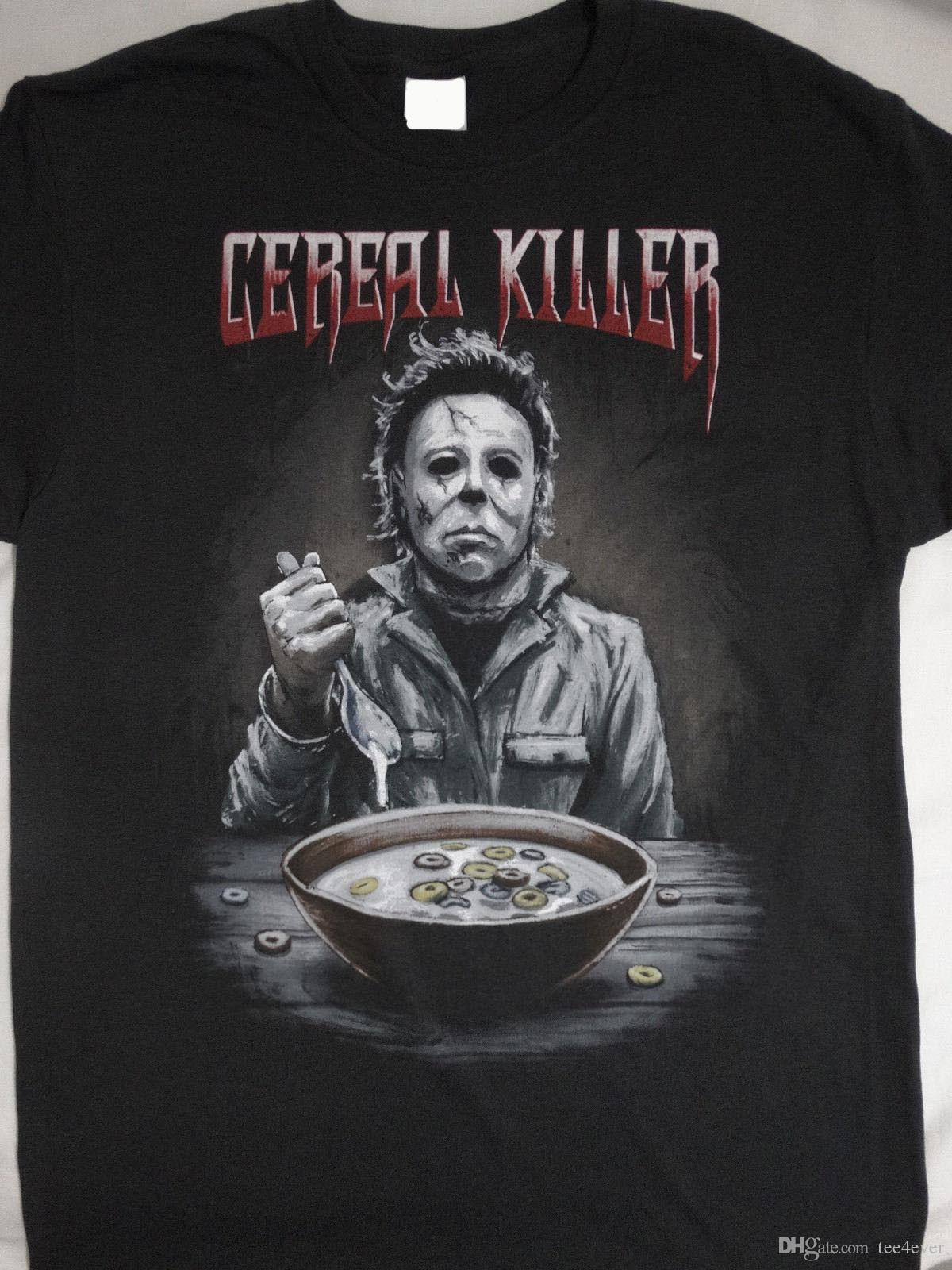 805c1dd5 Michael Myers Halloween T Shirt XL Middle Finger Horror Movie Film Men's  Black 2018 New Men's T Shirt