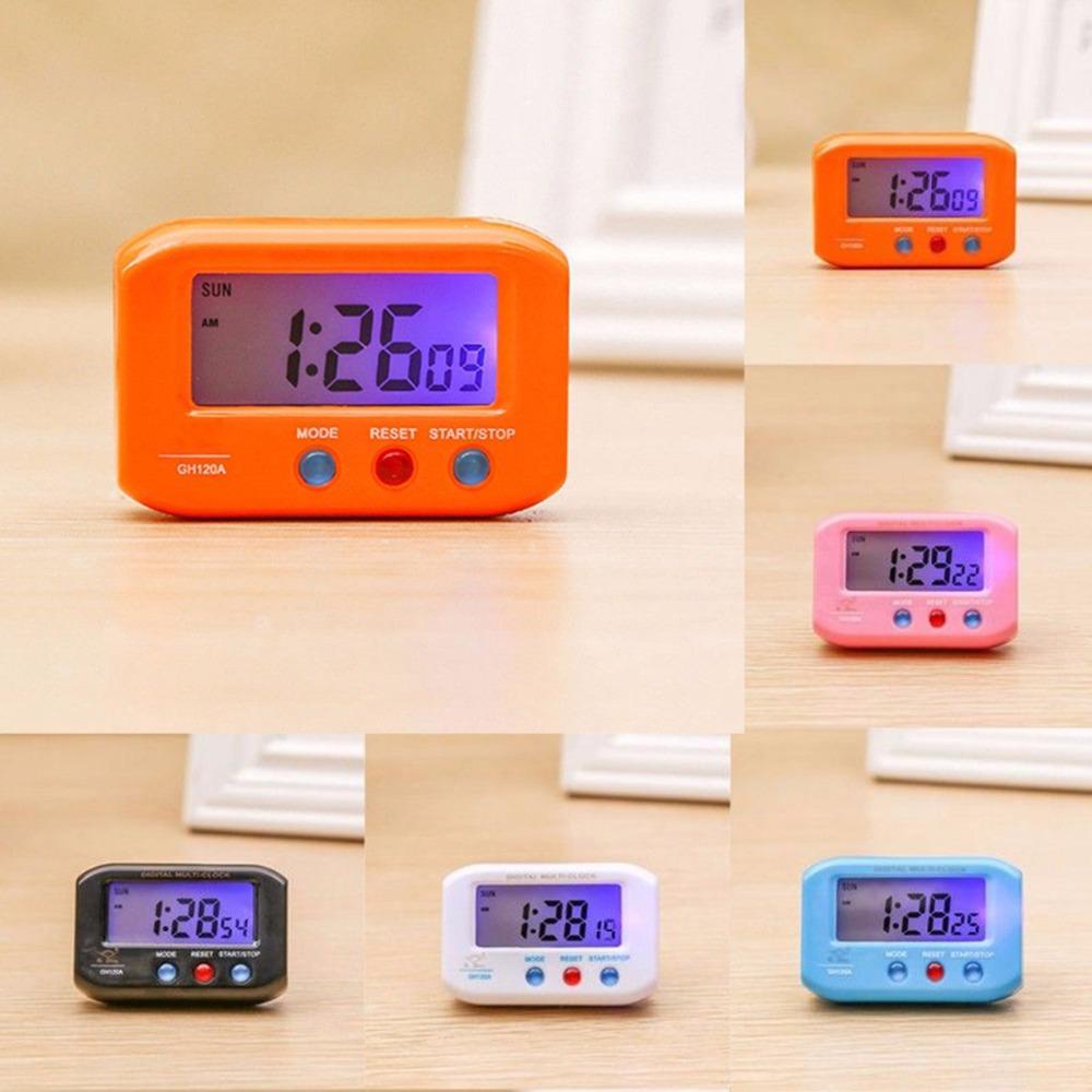 f689dfa16d7 Compre Bolso Portátil De Tamanho Digital Despertador De Viagem Eletrônico Digital  Automotivo Cronômetro LCD Relógio Com Snooze Backlight De Elecc