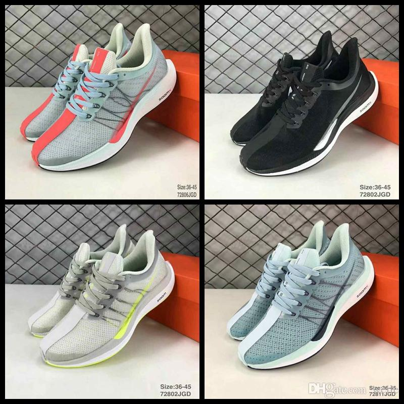 2496af30d95 2018 Air Zoom Pegasus 35 Turbo Running Shoes For Men Women Black White  Barely Grey React ZoomX Mens Sports Sneaker Zapatos Size 36-45 Pegasus 35  Running ...