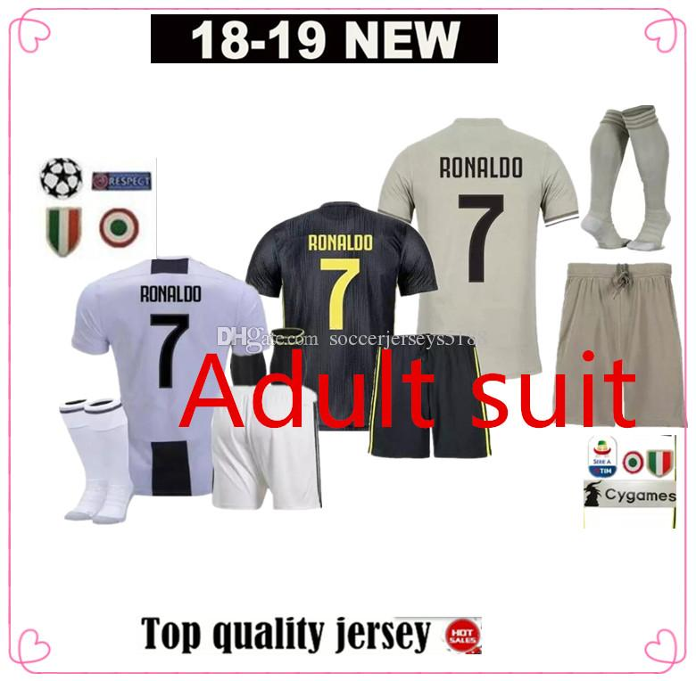 Acquista ADUIT 18 19 Juventus 7 RONALDO 10 DYBALA Felpa Uomo Maglia Da  Calcio Kit 2018 2019 Juve 9 HIGUAIN 11 D. Costa 17 MANDZUKIC 1 BUFFON Maglia  Da ... 069f7571fa8