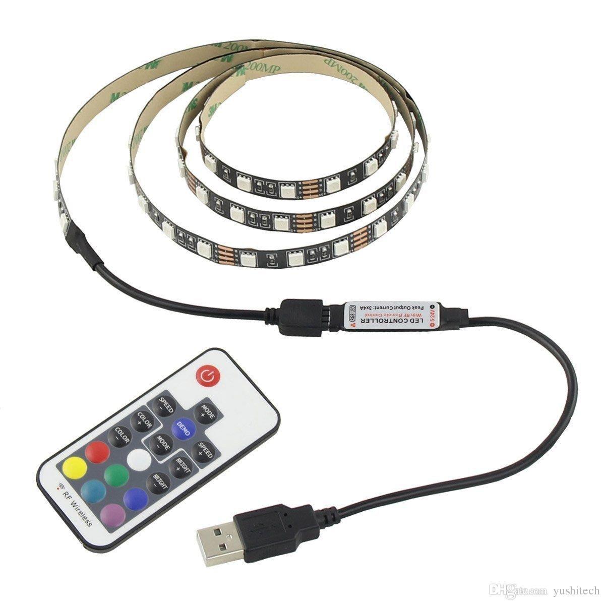 Acquista 5 v cavo usb led striscia di luce della lampada 3 for Luce led striscia