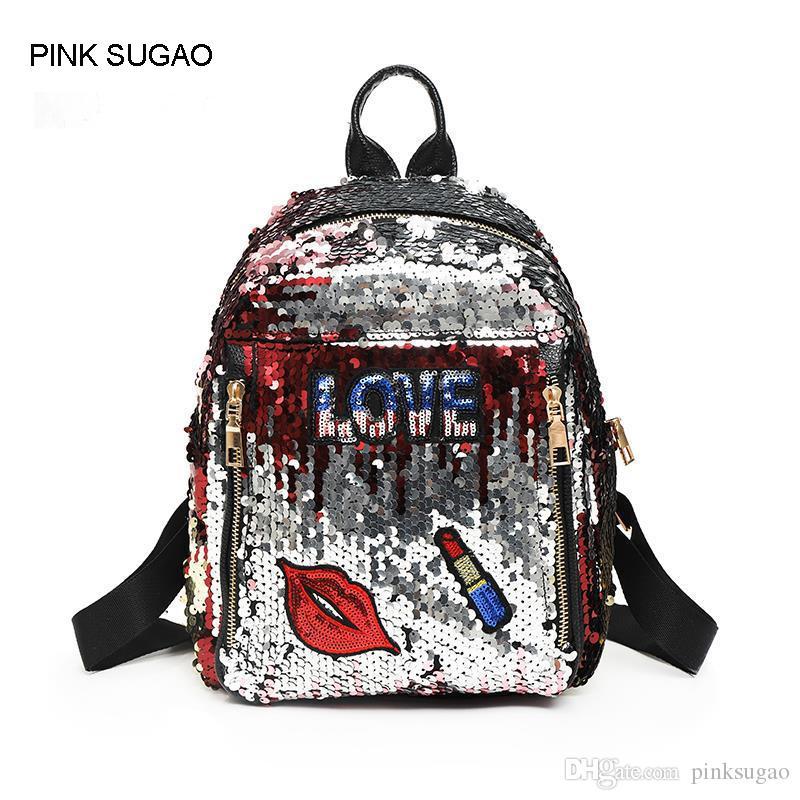 5c2361601b Pink Sugao Designer Backpack Women Shoulder Bag Girls School Backpack  Fashion Trend Cute Sequins Backpack College Wind Cartoon Handbag Bags  Rucksack From ...