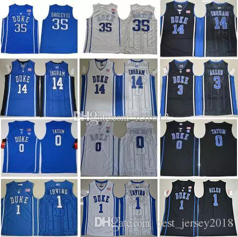 a26676619edb Duke Blue Devils College Basketball 1 Kyrie Irving 35 Marvin Bagley ...