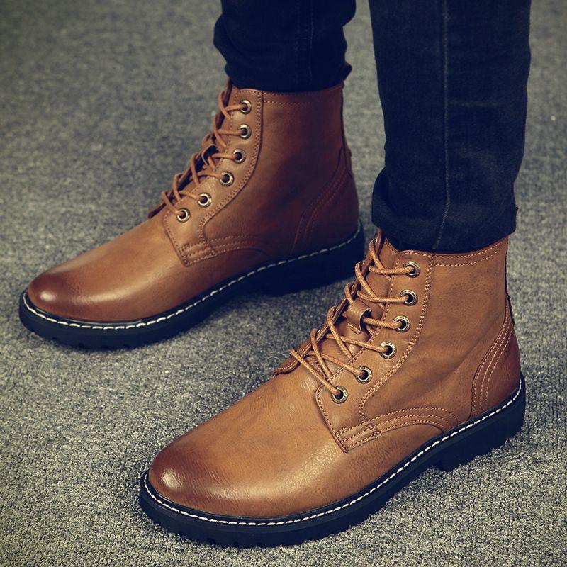 1bdd07a6daa Warm Men Winter Boots for Man Warm Waterproof Rain Boots Shoes 2018 New Men  s Ankle Snow Boot Fashion men Winter Shoes