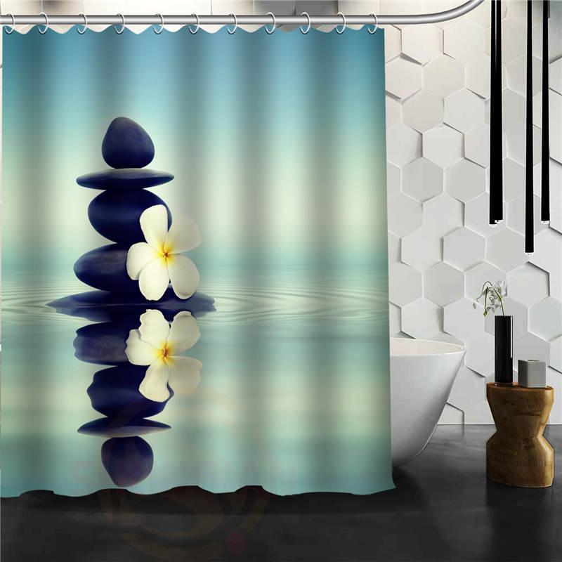 2019 Custom Classic Zen Stone Bathroom Waterproof Shower Curtain Durable Decorative Best Gift From Sheiler 2861