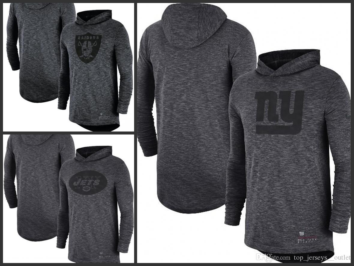 78a511588 2019 Oakland Raiders New York Jets New York Giants Men Heathered Charcoal Fan  Gear Tonal Slu B Hooded Long Sleeve T Shirt From Nfl_outlet_jersey, ...