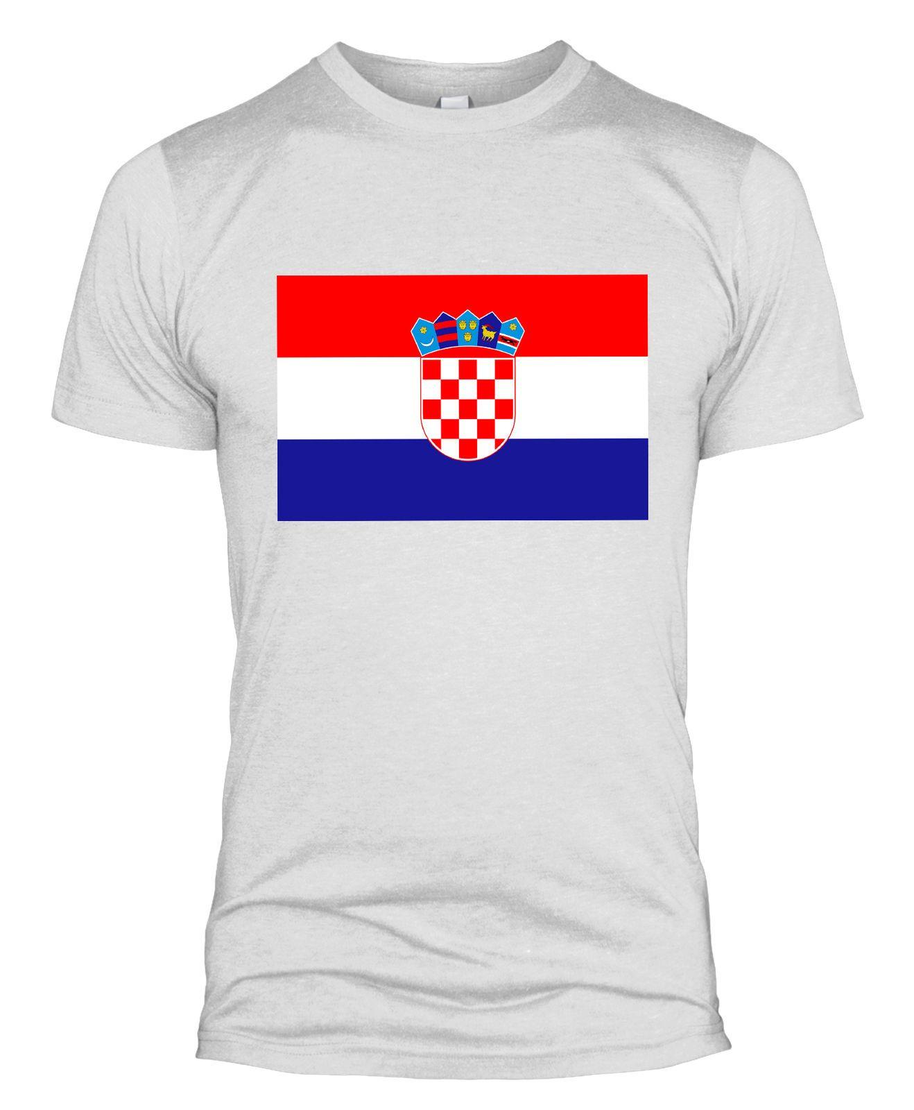 Croatia Flag T Shirt Football Support Croatian World Cup 2018 Men