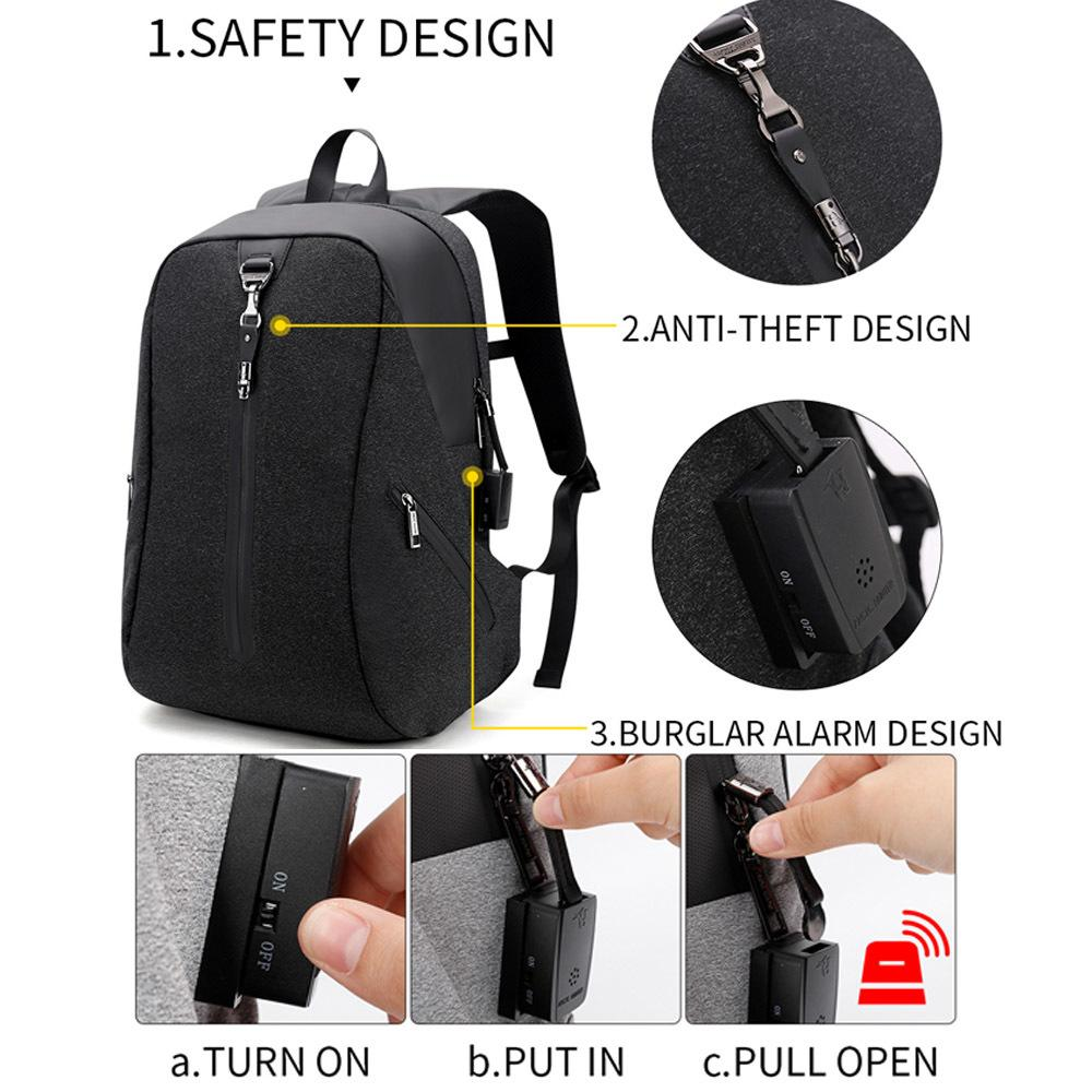 Bagpack Mochila Usb Anti Theft Alarm System Backpack Male Business Notebook Protector Travel Laptop Mens Casual Back Pack Men School Bag Swiss