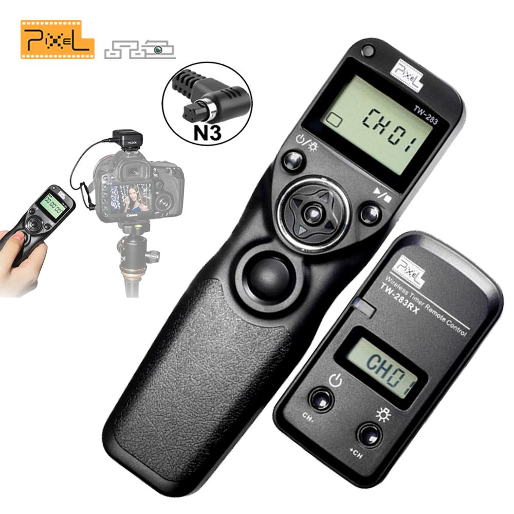 Pixel TW283 TW-283 N3 Wireless Timer Remote Control For  7D 5D Mark ii 1D 6D 7D2 5D3 50D 40D 30D 10D Camera Shutter Release