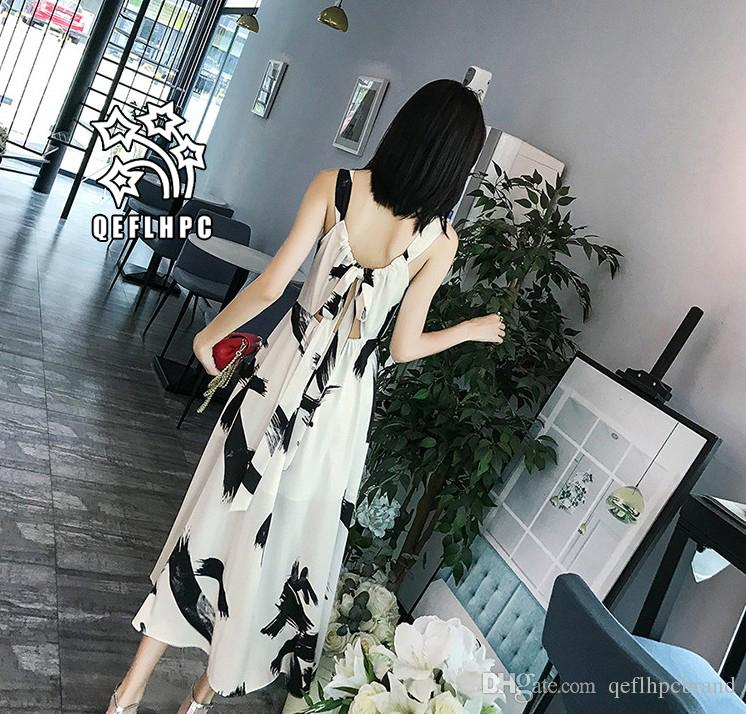 9cc2953a312 Women'S Clothes Dress Summer Sexy Beach Chiffon Dress Thin Polyester  Material Casual Dresses Chambray Longuette Scoop Neck A21748 Ladies Dress  Styles Summer ...