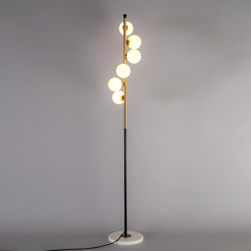 . Modern LED living room floor lamps bedroom standing lamps nordic lights  bedside illumination home deco lighting fixtures