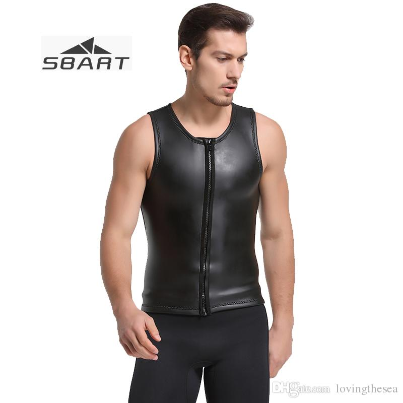 6bb1532912 2019 Sbart 2mm Mens Wetsuit Vest Smooth Skin Black Sleeveless Thicken Keep  Warm Wetsuit Tops For Snorkeling Surfing Swimming From Lovingthesea