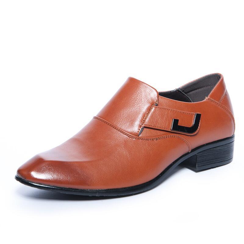 3b6bc1b16c4 Acheter AIKE Asie Chaussures En Cuir Pour Hommes D affaires Britanniques  Noirs Vierges Décontractées Habillées De Chaussures De Marque Pour Hommes De   54.0 ...